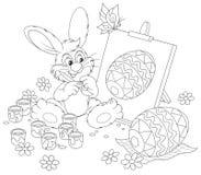 复活节兔子艺术家 库存图片