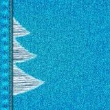 蓝色牛仔裤背景 免版税库存照片
