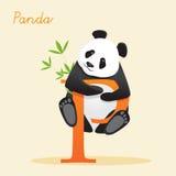 与熊猫的动物字母表 免版税库存图片