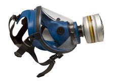 Απομονωμένη μάσκα αερίου Στοκ εικόνα με δικαίωμα ελεύθερης χρήσης