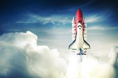 Космический летательный аппарат многоразового использования Стоковое Изображение