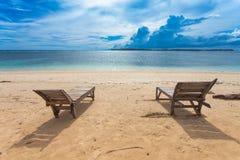 Μόνη παραλία Στοκ Φωτογραφία