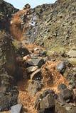 在山的瀑布 图库摄影