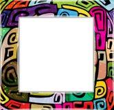 五颜六色的现代框架 免版税库存图片