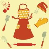 Иконы выпечки Стоковые Изображения