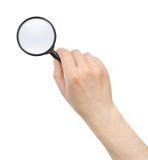 Ενίσχυση - γυαλί στο χέρι Στοκ φωτογραφία με δικαίωμα ελεύθερης χρήσης