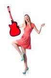 女性吉他 免版税库存图片