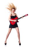 女性吉他 库存图片