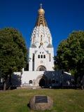 东正教教会在莱比锡 免版税库存照片