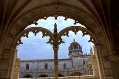 曲拱在全国考古学博物馆 免版税库存图片