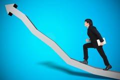 企业进展的概念性图象 免版税库存图片
