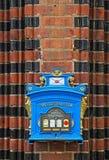 老葡萄酒德国岗位箱子在法兰克福奥得河,德国 免版税库存照片