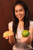 Здоровый выбор еды. Стоковое Изображение RF