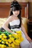 一个美丽的女孩的画象 库存照片