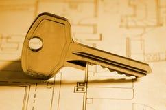 闩锁钥匙 免版税库存图片