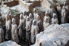 县的赤土陶器战士 免版税库存图片