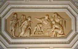 天花板在梵蒂冈博物馆 图库摄影