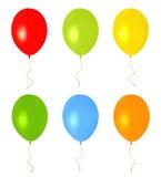 Цветастые воздушные шары на праздники. Изолированный вектор Стоковые Фото