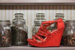 Красный ботинок Стоковое фото RF