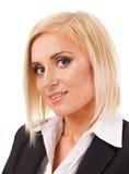 一名年轻成功的妇女的画象 免版税库存图片