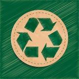 传染媒介回收标志 库存照片