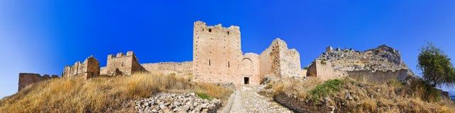 老堡垒在科林斯湾,希腊 库存图片