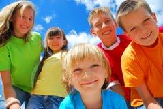 πέντε ευτυχή κατσίκια Στοκ Εικόνα