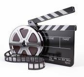 影片和拍板 免版税库存照片