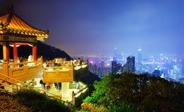 高峰香港的狮子亭子 免版税图库摄影
