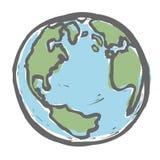 手拉的地球。 免版税图库摄影