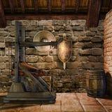 中世纪铁匠的室 免版税库存照片