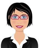 戴眼镜的女商人 库存照片