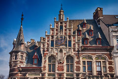 历史大厦在布鲁塞尔 免版税库存照片