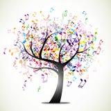抽象音乐树 库存图片