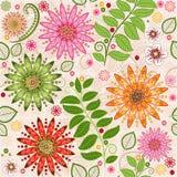 春天五颜六色的无缝的花卉样式 库存图片