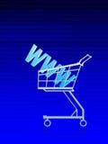 η προσφώνηση αγοράζει τη δικτυακή γειτονιά Διαδίκτυο Στοκ εικόνα με δικαίωμα ελεύθερης χρήσης