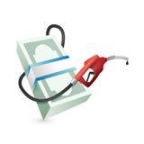 汽油价格概念例证设计 免版税库存照片