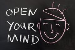 Ανοίξτε το μυαλό σας Στοκ φωτογραφίες με δικαίωμα ελεύθερης χρήσης