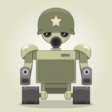 军用机器人 免版税库存照片