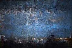 Μπλε βρώμικο βρώμικο υπόβαθρο Στοκ Εικόνες