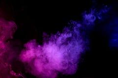 Абстрактный изолированный дым Стоковое Изображение