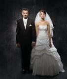 已婚夫妇问题,冷漠,消沉 库存照片
