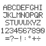Алфавит пиксела Стоковые Фотографии RF