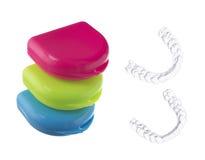 Изолированные коробки для протектора рта Стоковое Изображение RF