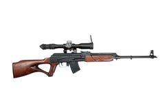 Автомат Калашниковаа основал снайперскую винтовку Стоковое Фото