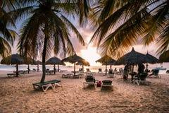 加勒比海在黎明 免版税库存图片