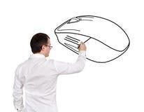 Мышь чертежа человека Стоковое Изображение RF
