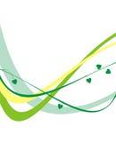 πράσινες λουρίδες κίτριν Στοκ εικόνες με δικαίωμα ελεύθερης χρήσης