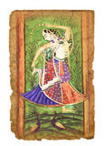 Старое индийское изображение Стоковые Фото
