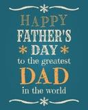 Карточка дня отцов Стоковое Изображение